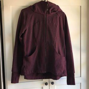 Lululemon scuba hoodie pleated dark adobe sz 12